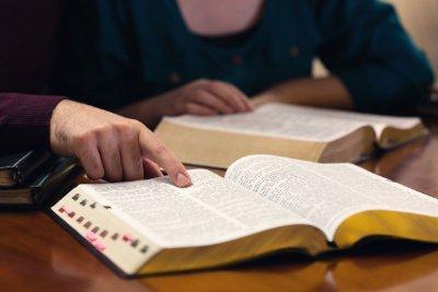 Bible Study Bible Open
