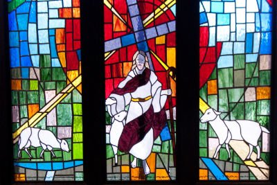 Stain glass Window in Sanctuary